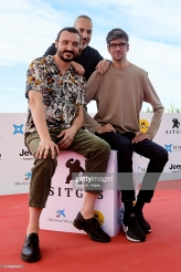 SITGES, SPAIN - OCTOBER 07: Actor David Pareja, director Oscar Martin and actor Javier Botet during photocall of 'Amigo' on October 07, 2019 in Sitges, Spain. (Photo by Borja B. Hojas/Getty Images)