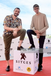SITGES, SPAIN - OCTOBER 07: Actor David Pareja and actor Javier Botet during photocall of 'Amigo' on October 07, 2019 in Sitges, Spain. (Photo by Borja B. Hojas/Getty Images)